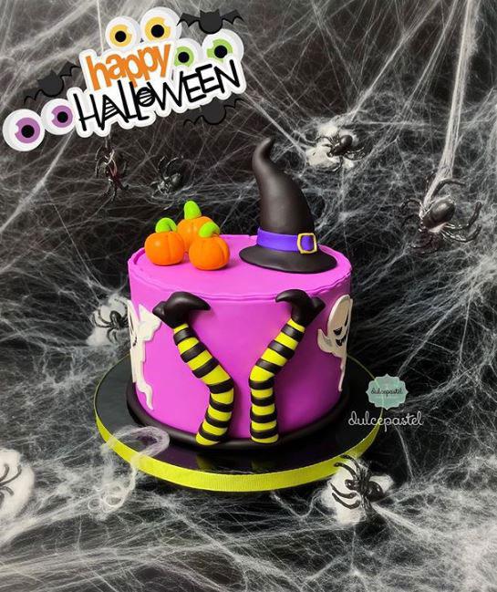torta halloween medellín dulcepastel