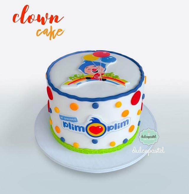 torta payaso plim plim medellin dulcepastel