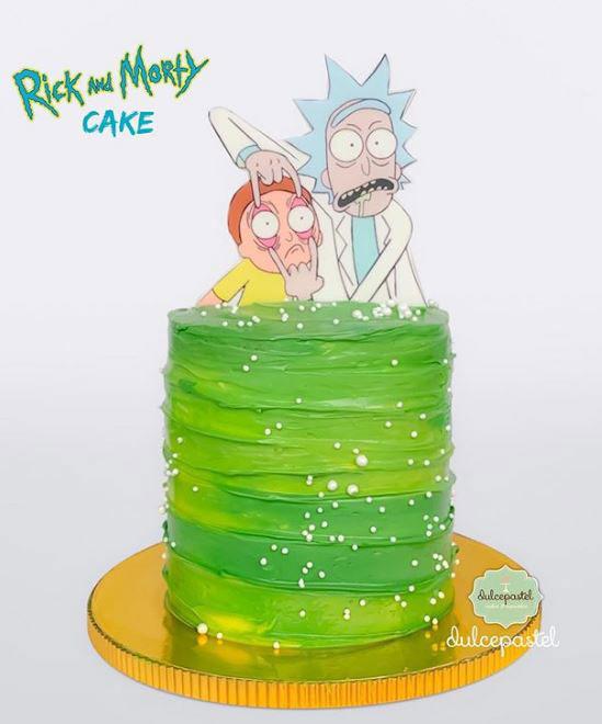 torta rick y morty medellín dulcepastel