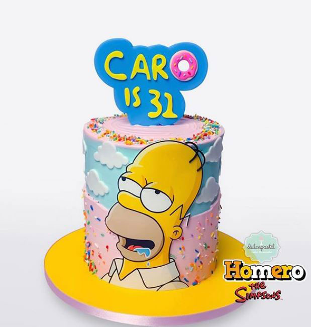torta simpsons medellín dulcepastel