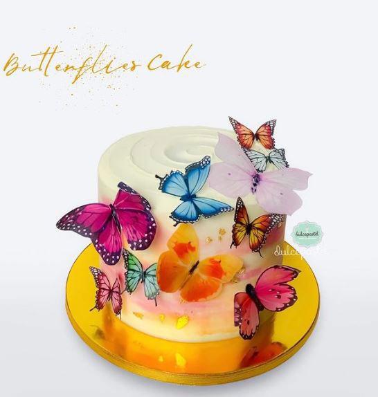 torta mariposas medellín dulcepastel